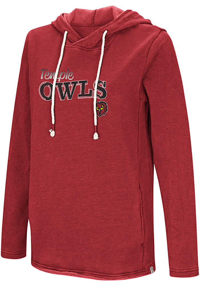 Colosseum Temple Owls Womens Red Journey Hoodie 8c8f744c1
