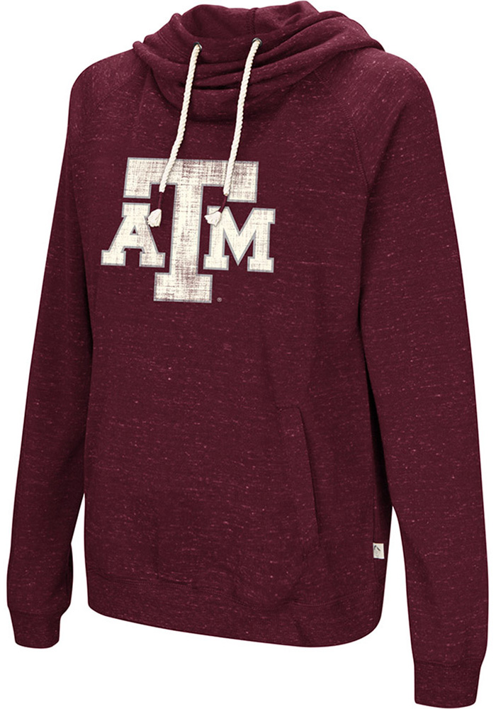 Colosseum Texas A&M Aggies Womens Maroon Ill Go With Hooded Sweatshirt - Image 1