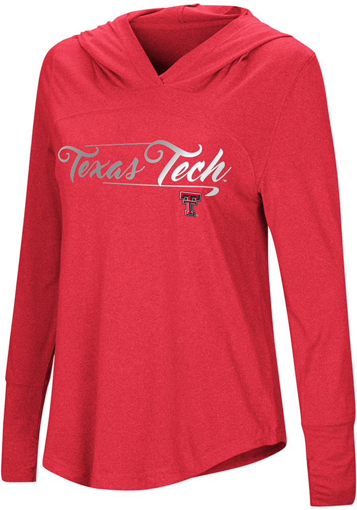 Colosseum Texas Tech Red Raiders Womens Red I Stick Hoodie