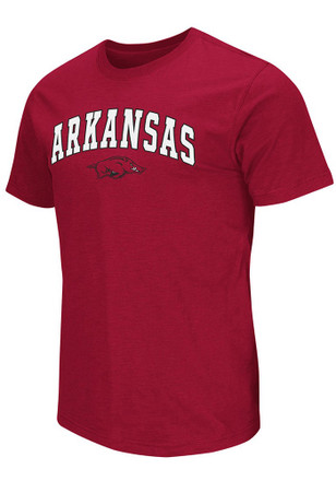 Colosseum Arkansas Razorbacks Mens Crimson Mason Tee