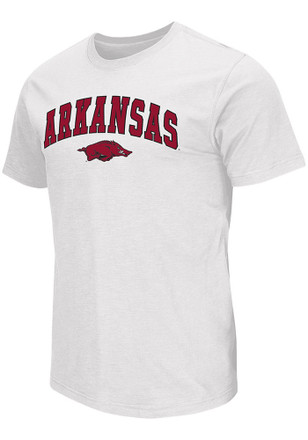 Colosseum Arkansas Razorbacks Mens White Mason Tee