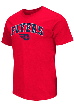 Colosseum Dayton Flyers Mens Red Mason Tee