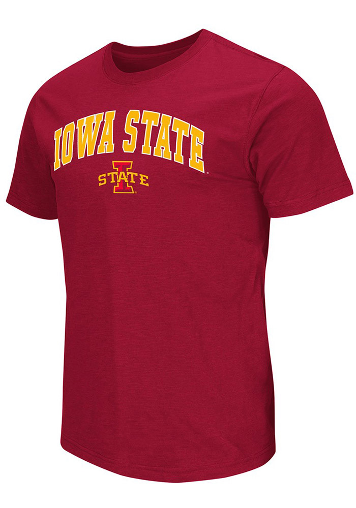 Colosseum Iowa State Cyclones Mens Red Mason Short Sleeve T Shirt, Red, 100% COTTON, Size L