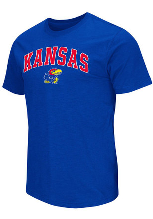 Colosseum Kansas Jayhawks Mens Blue Mason Tee