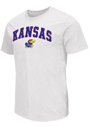 Colosseum Kansas Jayhawks Mens White Mason Tee