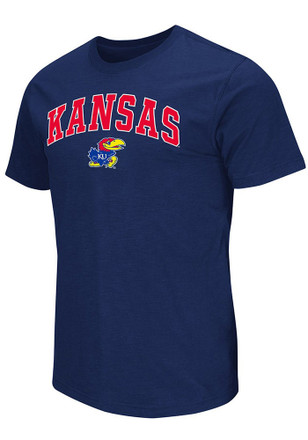 Colosseum Kansas Jayhawks Mens Navy Blue Mason Tee
