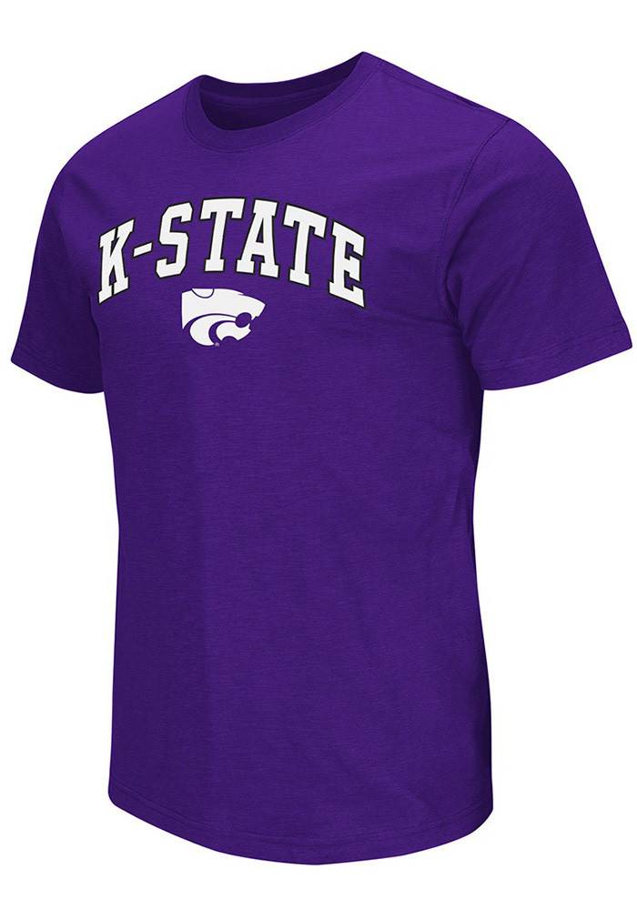 Colosseum K-State Wildcats Mens Purple Mason Short Sleeve T Shirt - Image 1