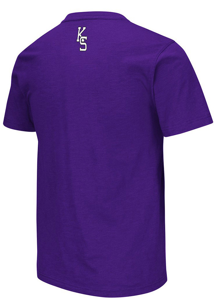 Colosseum K-State Wildcats Mens Purple Mason Short Sleeve T Shirt - Image 2