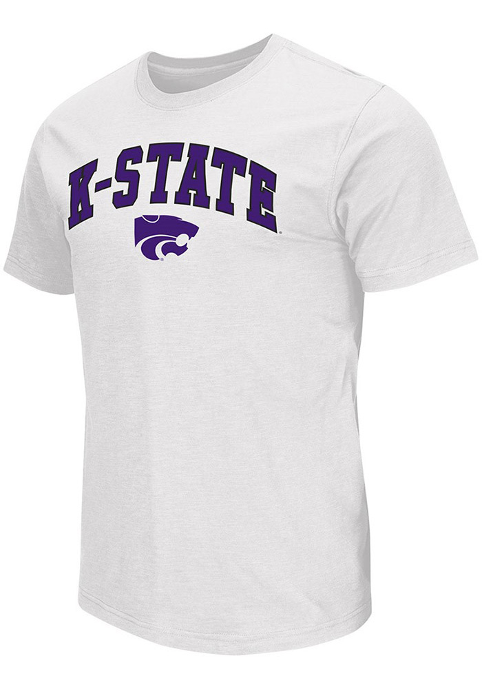 Colosseum K-State Wildcats Mens White Mason Short Sleeve T Shirt - Image 1