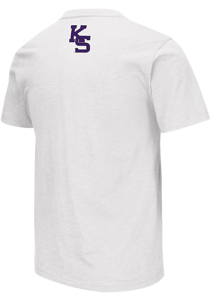 Colosseum K-State Wildcats Mens White Mason Short Sleeve T Shirt - Image 2