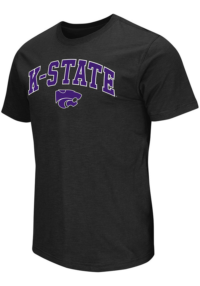 Colosseum K-State Wildcats Mens Black Mason Short Sleeve T Shirt - Image 1