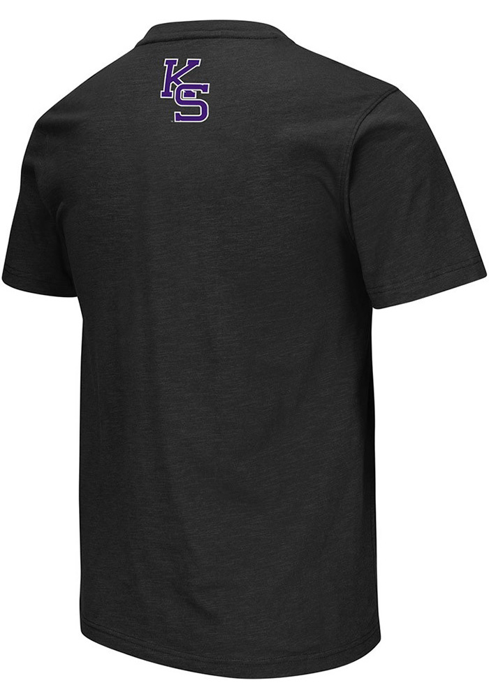 Colosseum K-State Wildcats Mens Black Mason Short Sleeve T Shirt - Image 2