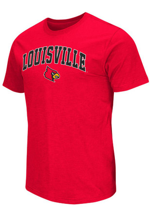 Colosseum Louisville Cardinals Mens Red Mason Tee
