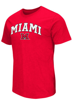 Colosseum Miami Redhawks Mens Red Mason Tee