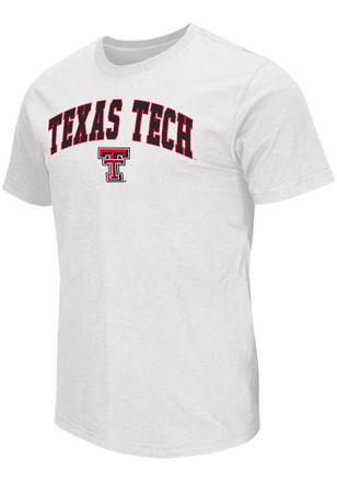 Colosseum Texas Tech Red Raiders Mens White Mason Tee