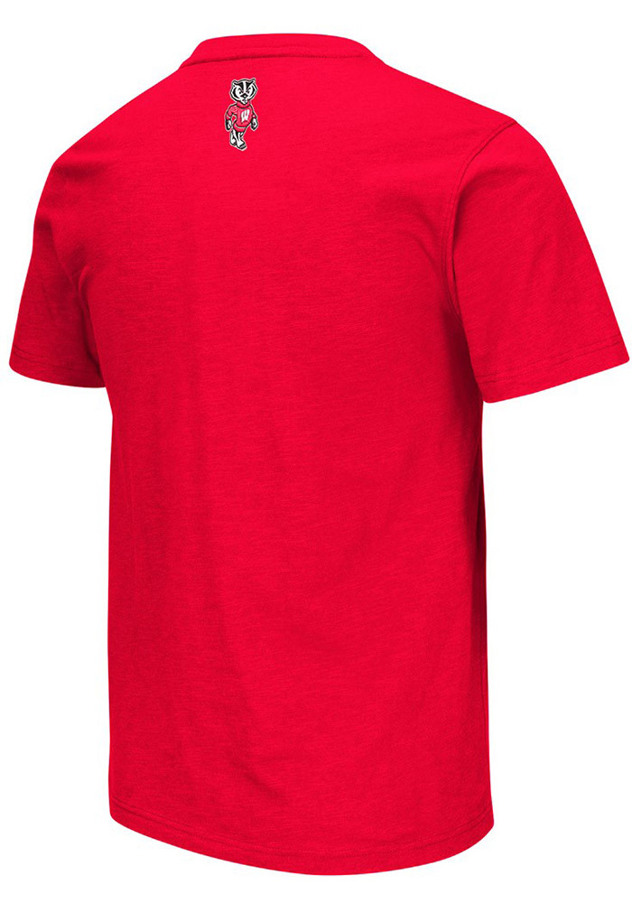 Colosseum Wisconsin Badgers Red Mason Short Sleeve T Shirt - Image 2