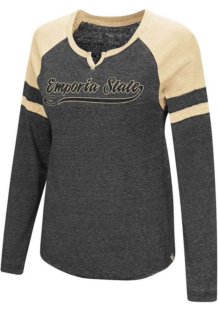 Colosseum Emporia State Hornets Womens Black Marquee LS Tee - Image 1