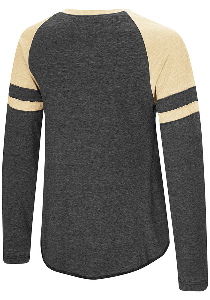 Colosseum Emporia State Hornets Womens Black Marquee LS Tee - Image 2