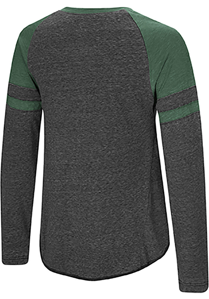 Colosseum Michigan State Spartans Womens Green Bubbilicious LS Tee - Image 2