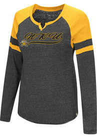 Colosseum Northern Kentucky Norse Womens Bubbilicious Black LS Tee