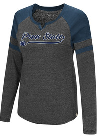 Colosseum Penn State Nittany Lions Womens Bubbilicious Navy Blue LS Tee