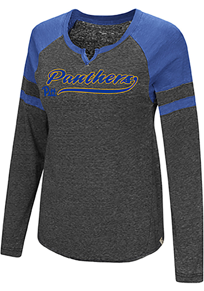 Colosseum Pitt Panthers Womens Blue Bubbilicious LS Tee - Image 1