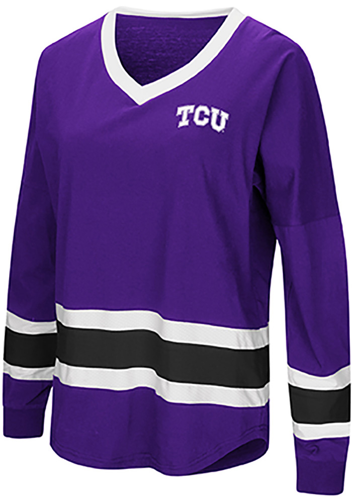Colosseum TCU Horned Frogs Womens Purple Marquee LS Tee - Image 1