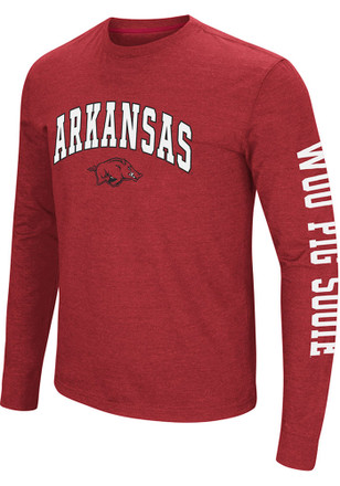 Colosseum Arkansas Razorbacks Mens Cardinal Jackson Tee