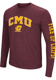 Colosseum Central Michigan Chippewas Maroon Jackson Tee