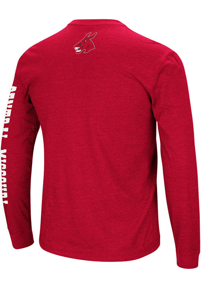 Colosseum Central Missouri Mules Red Jackson Long Sleeve T Shirt - Image 2