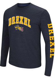 Colosseum Drexel Dragons Navy Blue Jackson Tee