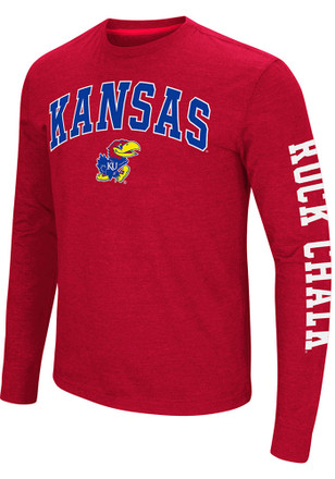 Colosseum Kansas Jayhawks Mens Red Jackson Tee