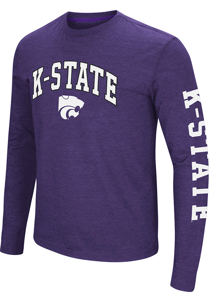 Colosseum K-State Wildcats Mens Purple Jackson Long Sleeve T Shirt - Image 1