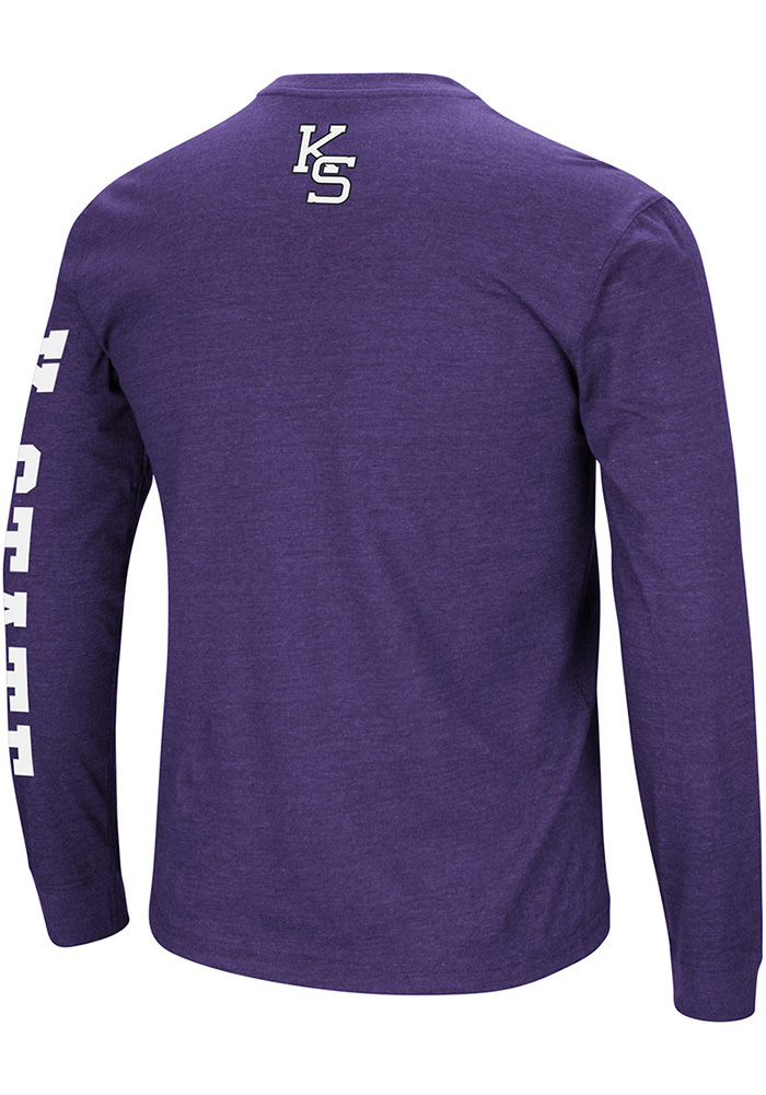 Colosseum K-State Wildcats Mens Purple Jackson Long Sleeve T Shirt - Image 2