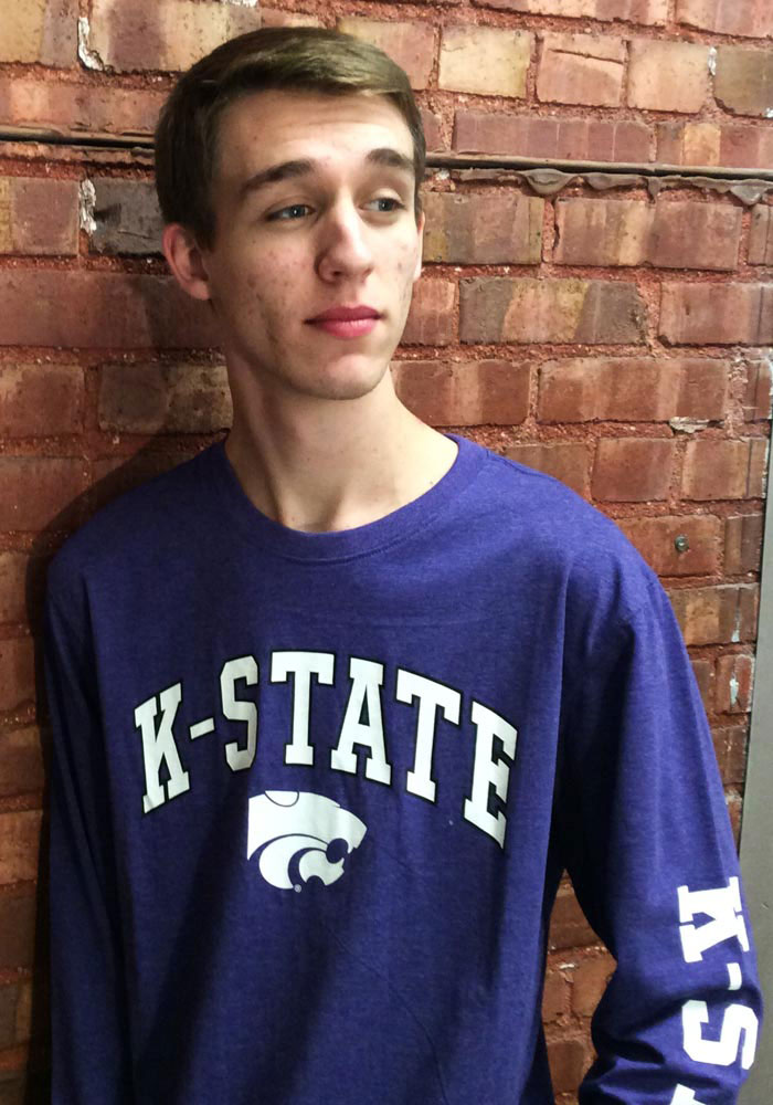 Colosseum K-State Wildcats Purple Jackson Long Sleeve T Shirt - Image 3