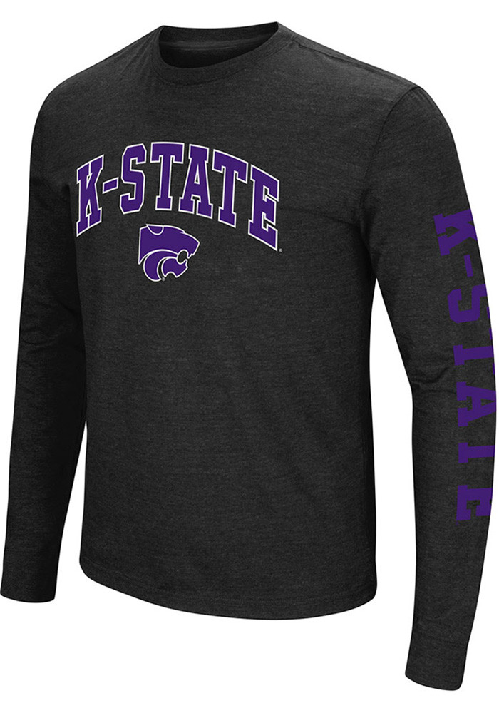 Colosseum K-State Wildcats Mens Black Jackson Long Sleeve T Shirt - Image 1