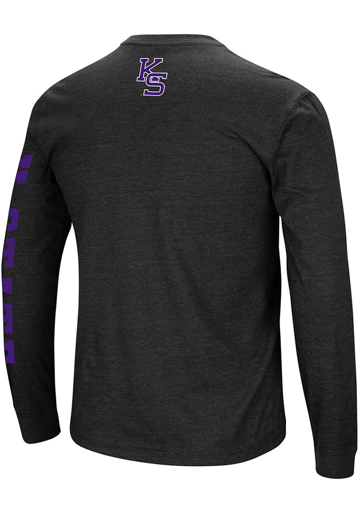Colosseum K-State Wildcats Mens Black Jackson Long Sleeve T Shirt - Image 2