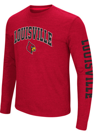 Colosseum Louisville Cardinals Mens Red Jackson Tee