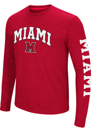 Colosseum Miami Redhawks Mens Red Jackson Tee
