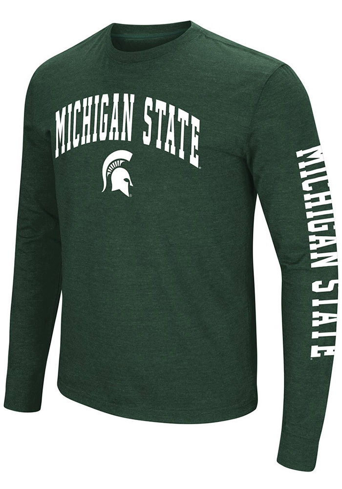Colosseum Michigan State Spartans Green Jackson Long Sleeve T Shirt - Image 1