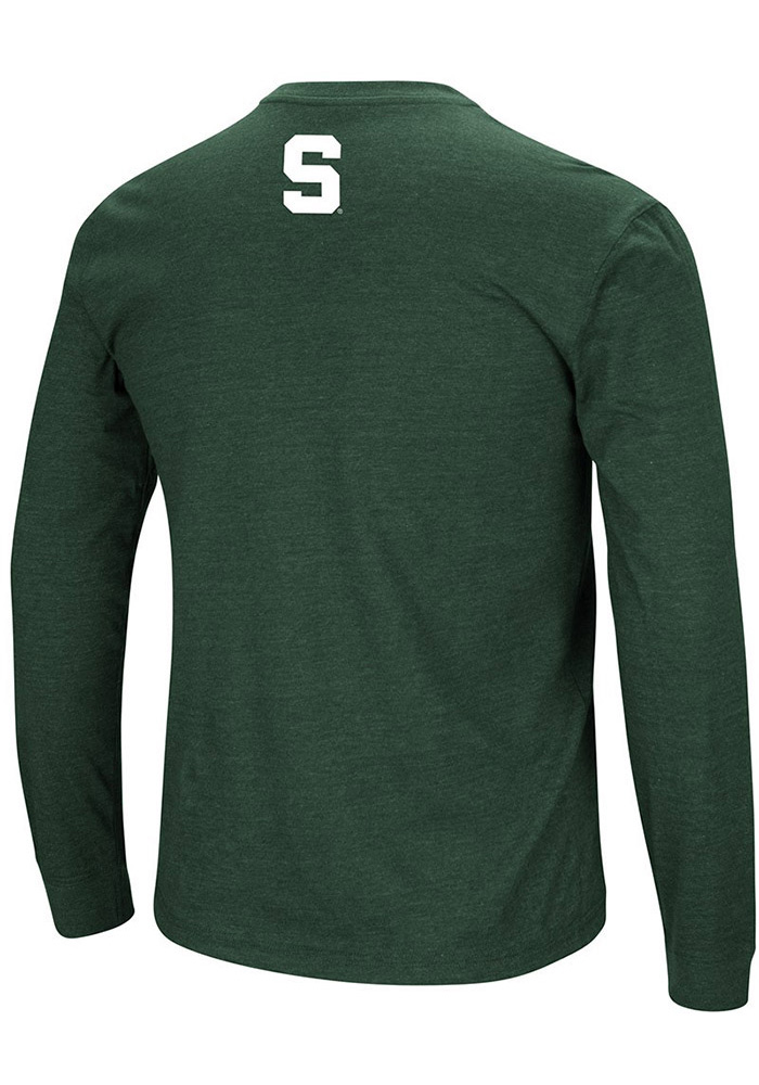 Colosseum Michigan State Spartans Green Jackson Long Sleeve T Shirt - Image 2