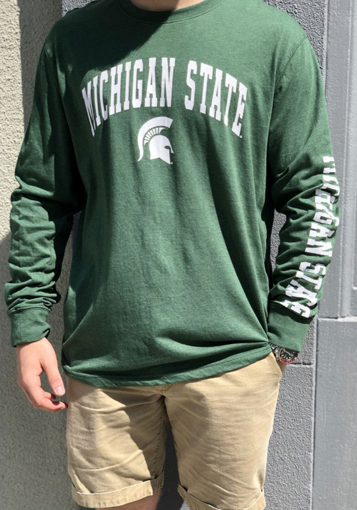 Colosseum Michigan State Spartans Green Jackson Long Sleeve T Shirt - Image 3