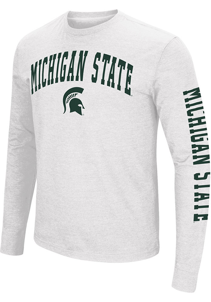 Colosseum Michigan State Spartans White Jackson Long Sleeve T Shirt - Image 1