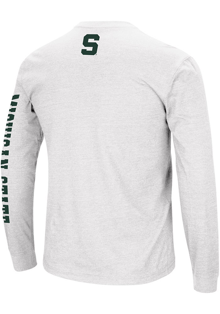 Colosseum Michigan State Spartans White Jackson Long Sleeve T Shirt - Image 2