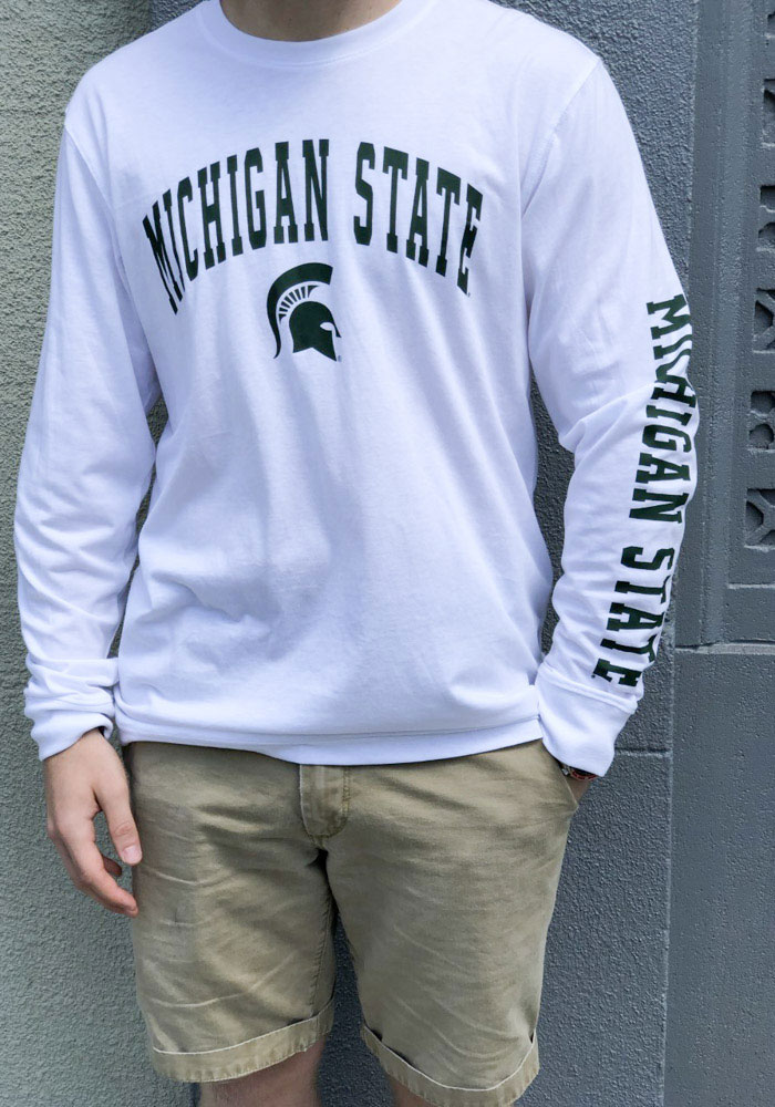 Colosseum Michigan State Spartans White Jackson Long Sleeve T Shirt - Image 3