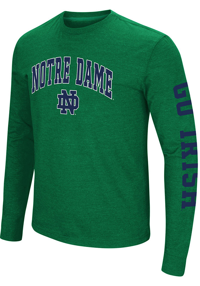 Colosseum notre dame fighting irish mens green jackson for Notre dame tee shirts