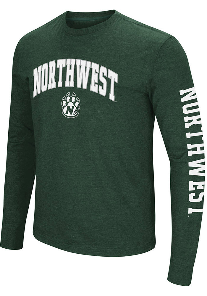 Colosseum Northwest Missouri State Bearcats Mens Green Jackson Long Sleeve T Shirt - Image 1