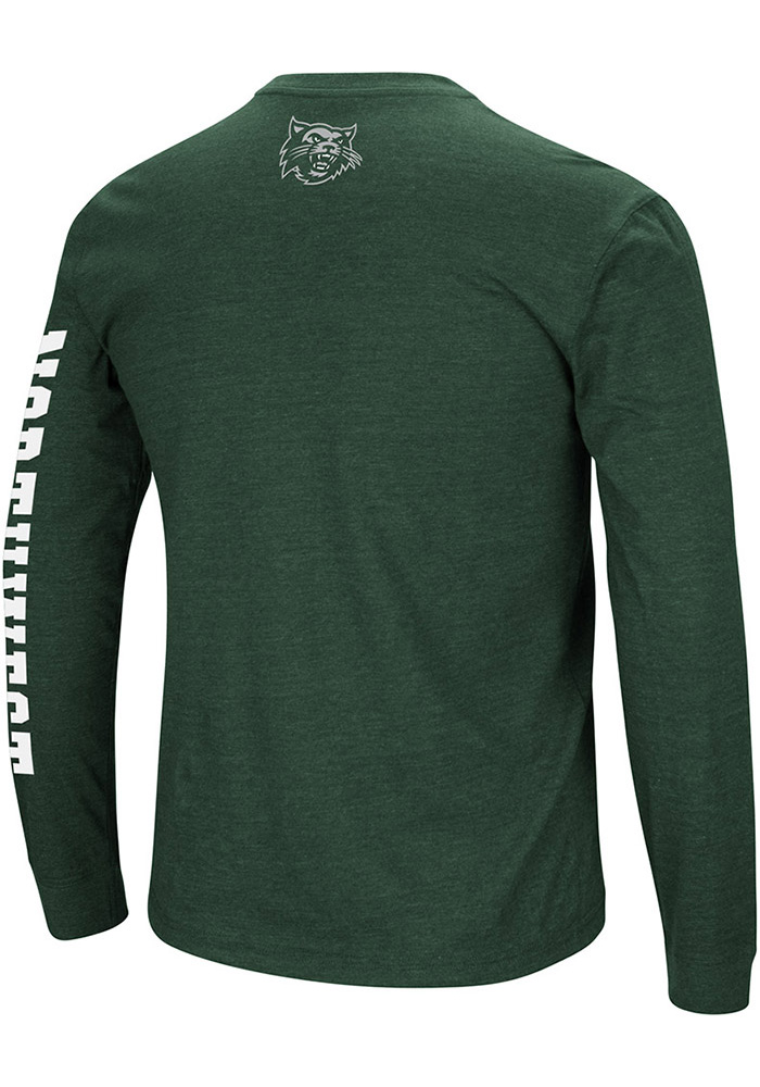 Colosseum Northwest Missouri State Bearcats Mens Green Jackson Long Sleeve T Shirt - Image 2