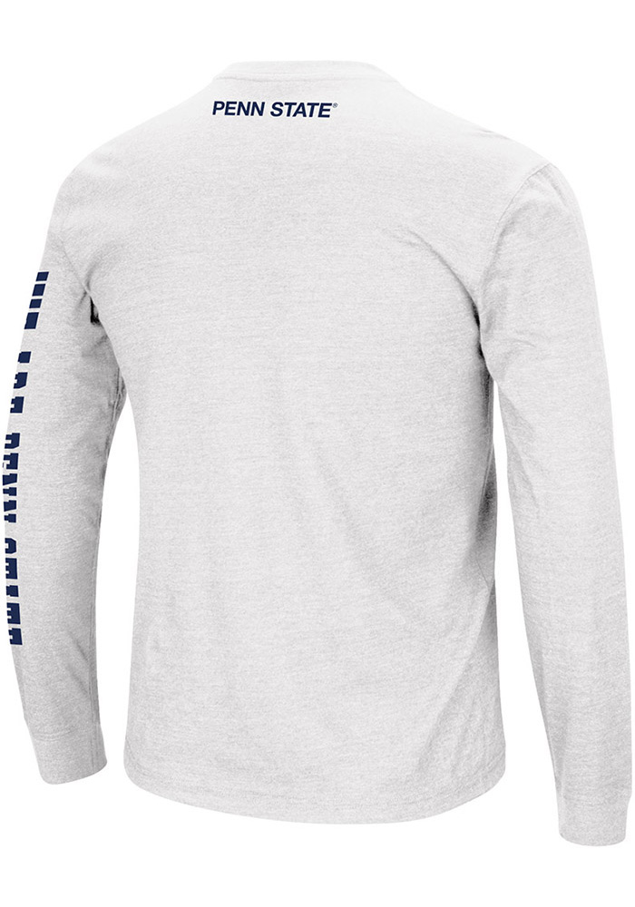 Colosseum Penn State Nittany Lions White Jackson Long Sleeve T Shirt - Image 2