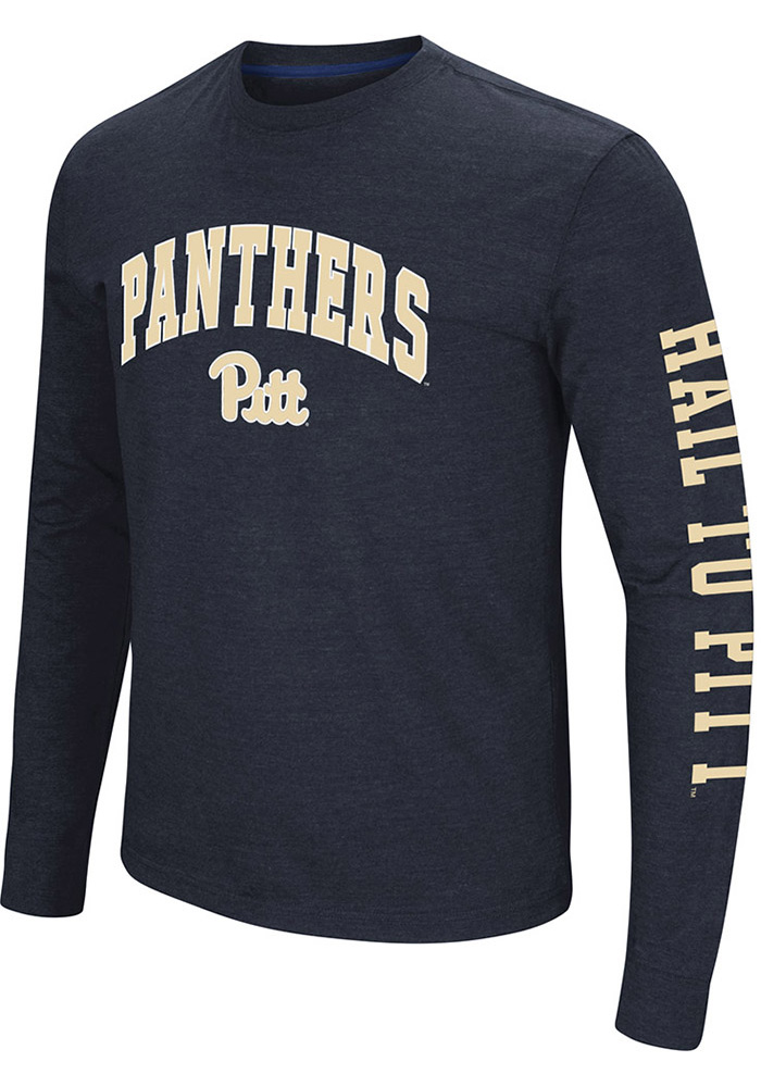 Colosseum Pitt Panthers Navy Blue Jackson Long Sleeve T Shirt - Image 1